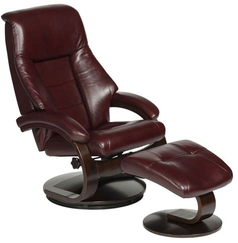 Small Leather Swivel Recliner Chair
