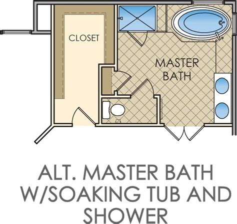 Small Master Bathroom And Closet Floor Plans