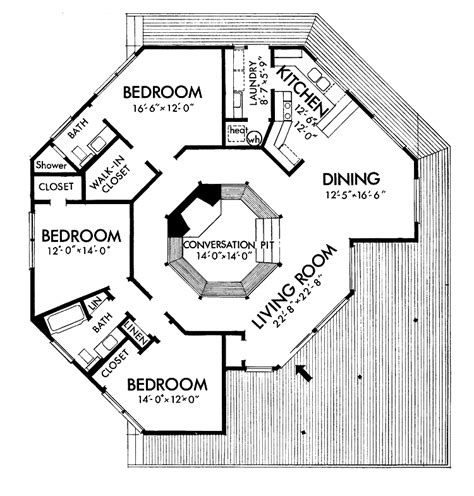Small Octagon House Plans Blueprints