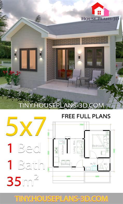 Small One Bed House Plans