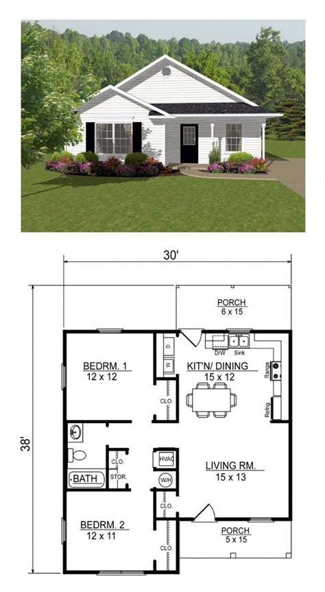 Small Open Farmhouse Plans