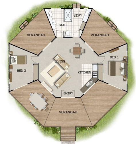 Small Round Octagon House Plans