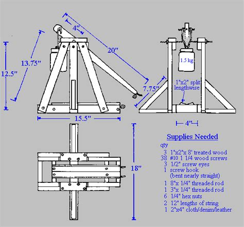 Small Scale Trebuchet Plans Tabletop Water Dispenser