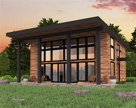 Small Slanted Roof House Plans Under 1000 Sq Ft