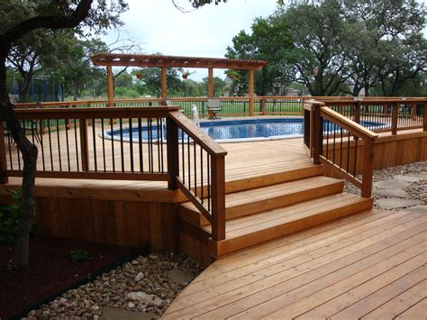 Small Wood Pool Deck Plans