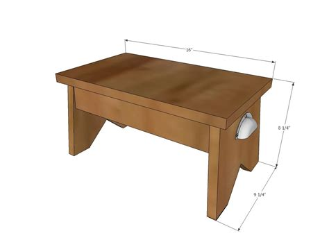 Small Wood Step Stool Plans