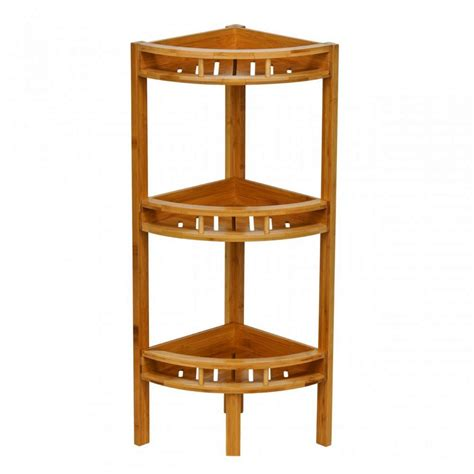 Small Wooden Corner Shelving Unit