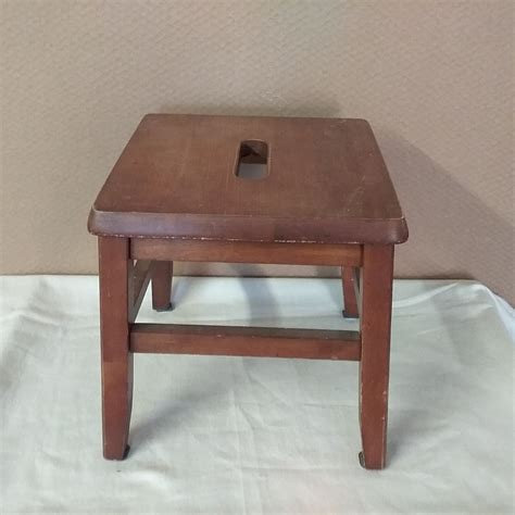 Small Wooden Step Stool And Seat