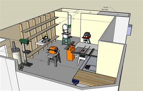 Small Woodworking Shop Floor Plans