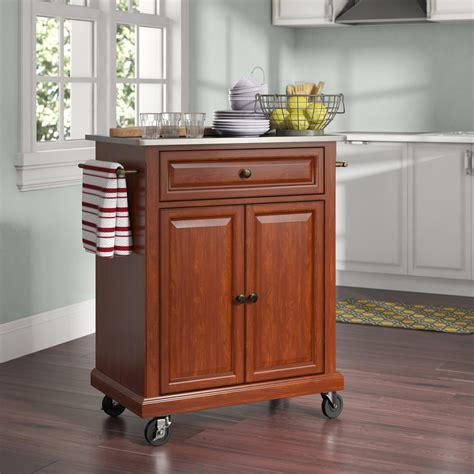 Small microwave carts with storage Image