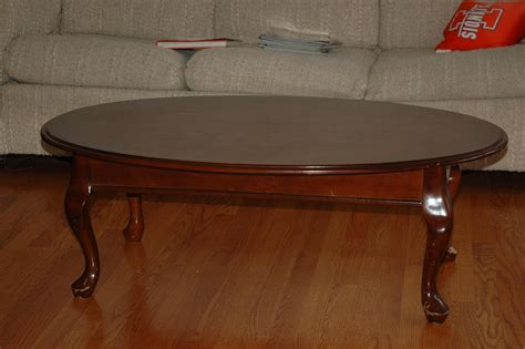 Small oval coffee tables wood Image