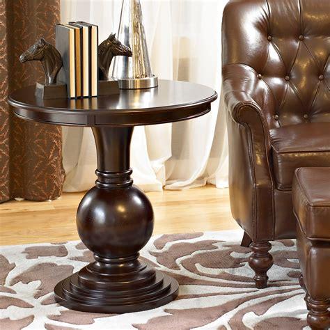 Small Round End Table Espresso Image