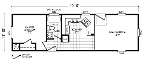 Small-1-Bed-Room-Single-Wide-Mobile-Home-Floor-Plans