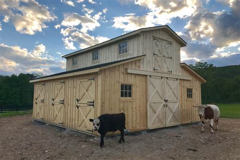 Small-Barn-Plans-With-Stalls-And-Hay-Shed