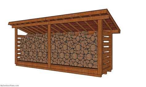 Small-Firewood-Storage-Shed-Plans