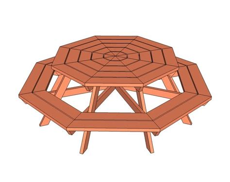 Small-Hexagon-Picnic-Table-Plans