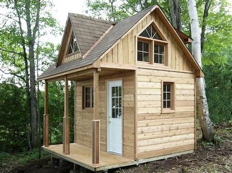 Small-Hunting-Cabin-With-Loft-Plans