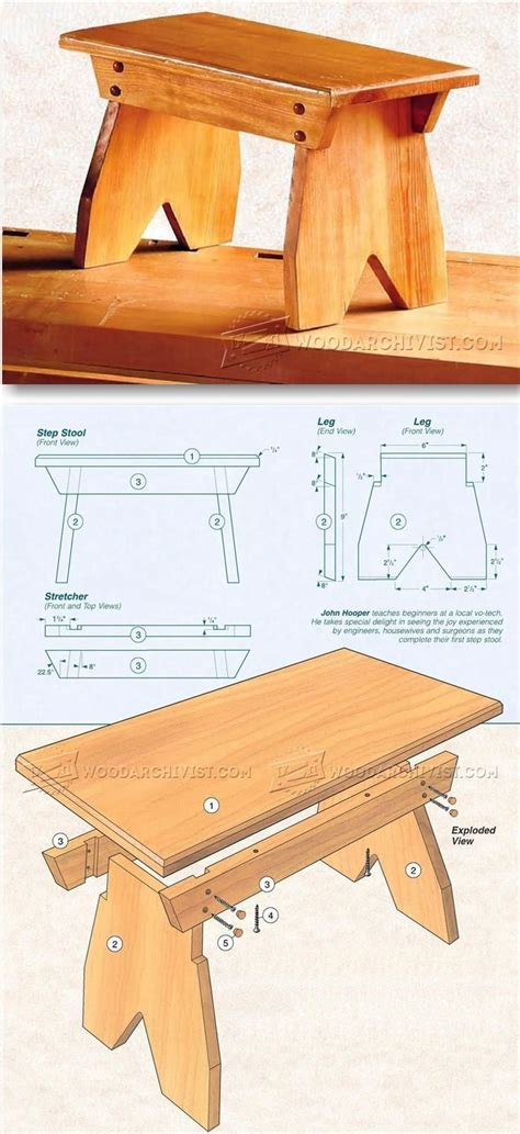 Small-Wooden-Footstool-Plans
