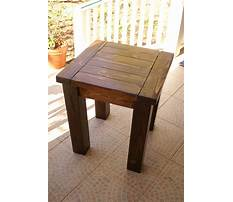 Best Small end table woodworking plans