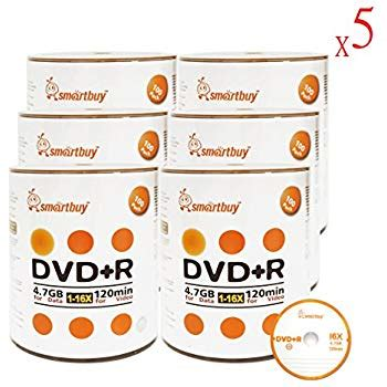 Smart Buy 3000 Pack DVD+R 4.7gb 16x Logo Blank Data Video Movie Recordable Disc, 3000 Disc 3000pk