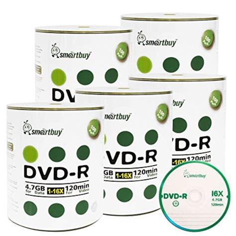 Smart Buy 500 Pack DVD+R 4.7gb 16x Logo Blank Data Video Movie Recordable Disc, 500 Disc 500pk