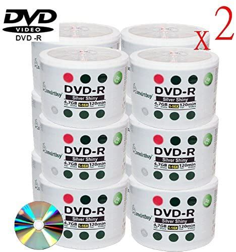 Smartbuy 1800-disc 4.7gb/120min 16x DVD-R Shiny Silver Blank Data Recordable Media Disc