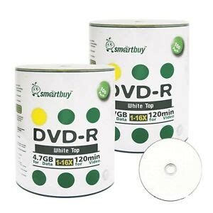 Smartbuy 6000-disc 4.7gb/120min 16x DVD-R White Top Blank Data Recordable Media Disc