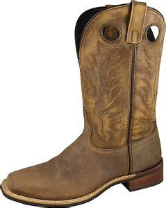 Smoky Mountain Men's Timber Pull On Closure Stitched Design Square Toe Brown Distress Boots