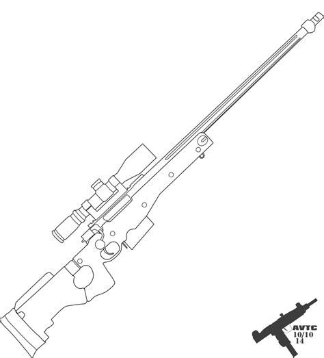 Sniper Rifle Outline Awp And Sniper Rifle S Power Piston 177 Caliber Break Barrel