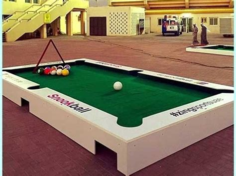 Snookball Table Dimensions