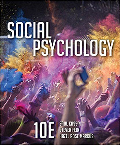 Social Psychology 10th Edition Myers Pdf Online And Spector Industrial And Organizational Psychology Pdf