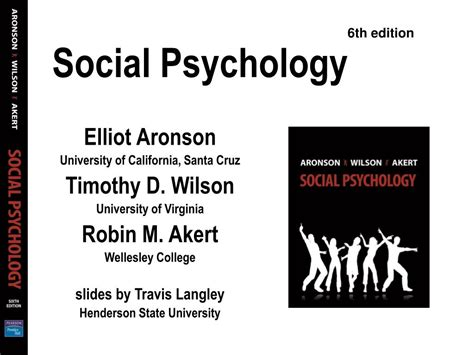 Social Psychology Lecture Powerpoint And Social Psychology Master Programs Online