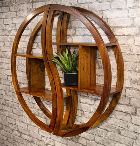 Solid Circle Wall Hanging With Added Shelves Diy