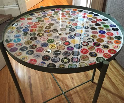 Solid Wood Tables With Resin Diy Bottle