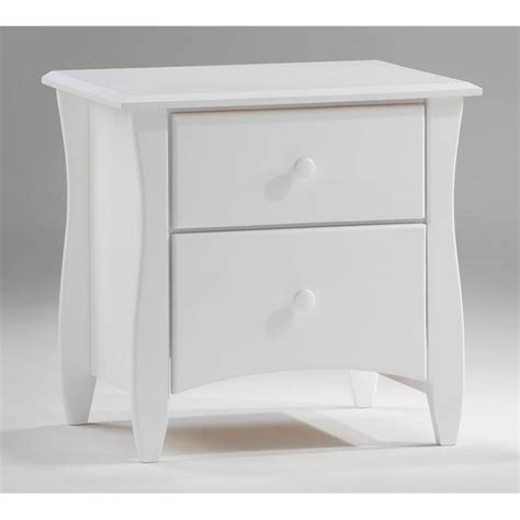 Solid Wood White Nightstands