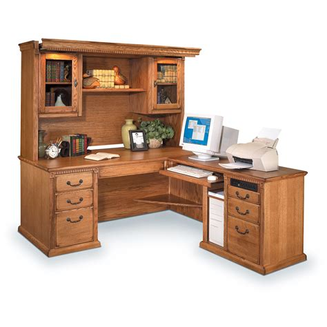 Solid-Wood-Desk-With-Hutch