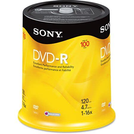 Sony - 16x DVD+R Media - 100pk spindle