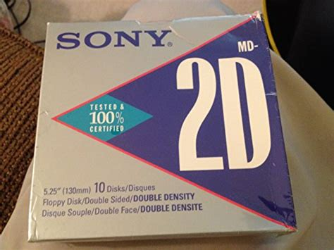 Sony MD-2DA Double-Sided Double Density 500KB 5.25' Floppy Disks (10-Pack)