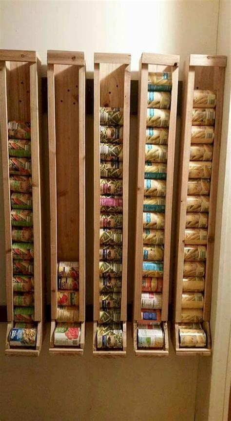 Soup Can Storage Diy Shelves