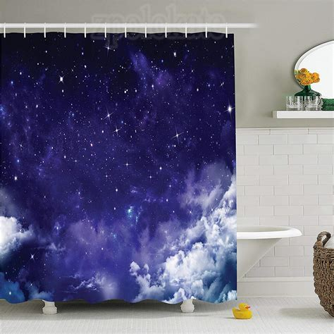 Space Dreamy Night With Stars Shower Curtain