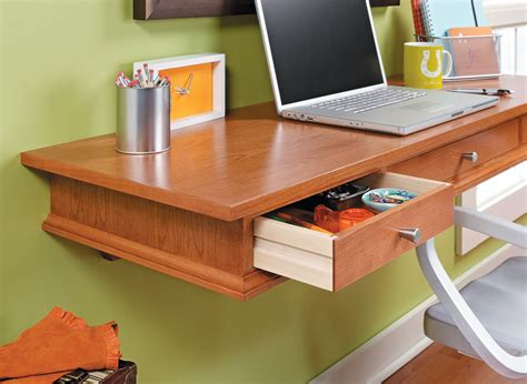 Space Saving Desk Woodworking Plans