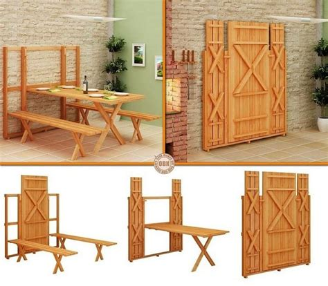 Space Saving Fold Down Picnic Table Plans