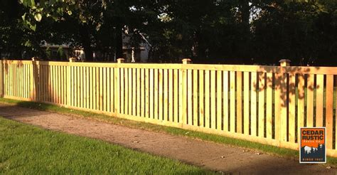 Spaced Traditional Picket Fence Plans
