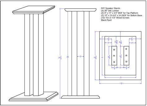 Speaker Stand Design Plans