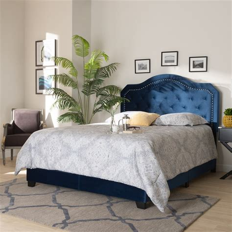 Specials Navy Blue Tufted Bed
