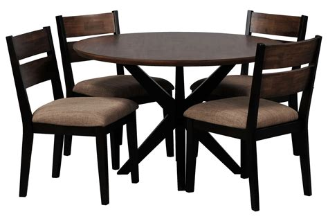 Spencer 5 Piece Round Dining Set W Wood Chair