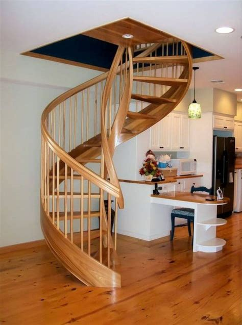 Spiral-Stair-Plans-Wood