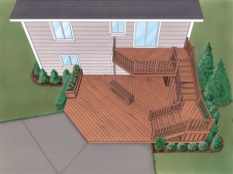 Split Level House Deck Plans