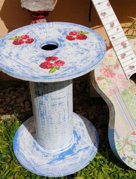 Spool End Table Diy Shelves