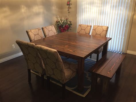 Square Farmhouse Table Seats 8 Diy